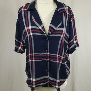 Rails pajama plaid top size small NWT